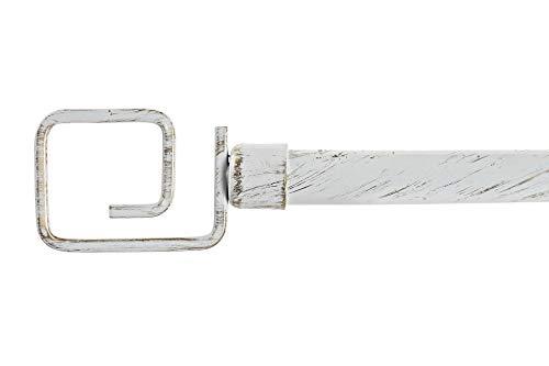 Dream Hogar Barra de Cortina Extensible de Metal Blanca Minimalista para Dormitorio de 120-210 cm (Espiral)