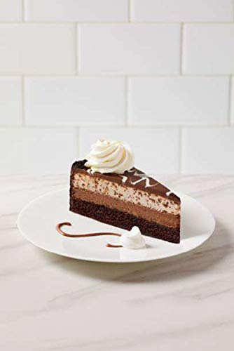 """The Cheesecake Factory 10"""" Chocolate Tuxedo Cheesecake 12 Slices- 80 ounce (Pack of 2)"""