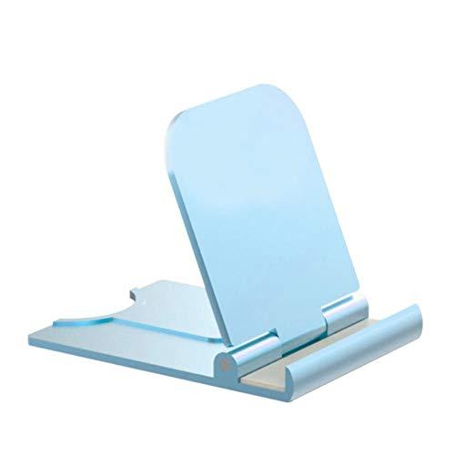 Kesio Soporte de teléfono celular ajustable plegable para escritorio, soporte de teléfono para oficina, portátil, compatible con teléfono 11 Pro Xs Xs Max Xr X 8, iPad Mini y más (azul)