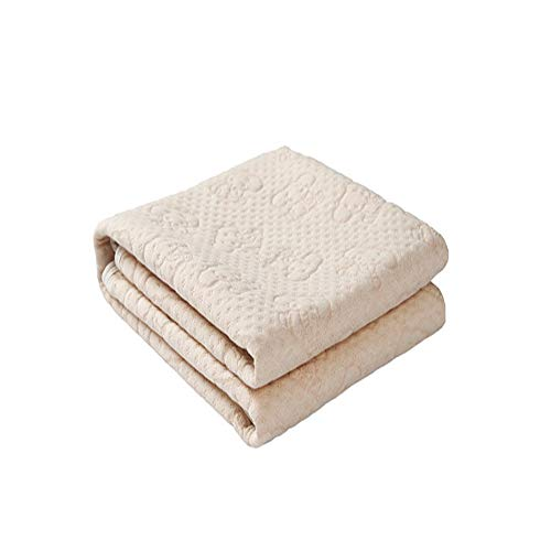 100% Natural Colored Cotton Waterproof Sheet,Baby Crib Pee Pads Or Incontinence Bed Pad Pack N Play Mattress Protector for Child Adults and Pet (M)