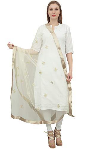 Phagun Frauen-Ansatz-Verpackungs-Designer Net Dupatta Indian lange Stola Einwurf Mint Green
