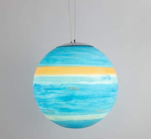 Sallypan Planet Pendelleuchte Nordisch Modern Kreativ Acryl Kugelförmig Venus Jupiter Merkur Mars Saturn Erde Sonne Uranus Neptun Mond Led Hängeleuchte,Neptune,40cm