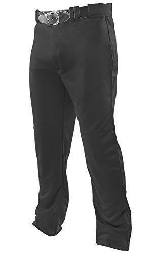 Joe's USA Open Bottom Relaxed Fit Black Youth Baseball Pants