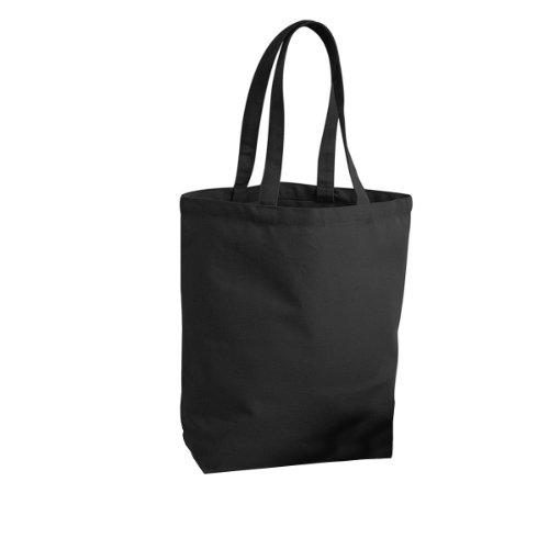 Westford Mill Fair Trade Camden Shopper/Einkaufstasche, 13 Liter (2 Stück/Packung) (Einheitsgröße) (Schwarz)