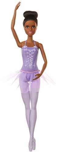 Barbie GJL61 - Ballerina Puppe (afro-amerikanisch) im Ballerina-Outfit mit Tutu und Spitzenschuhen, Spielzeug ab 3 Jahren