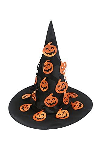 Hooin - Sombrero de bruja de Halloween con calabazas colgantes