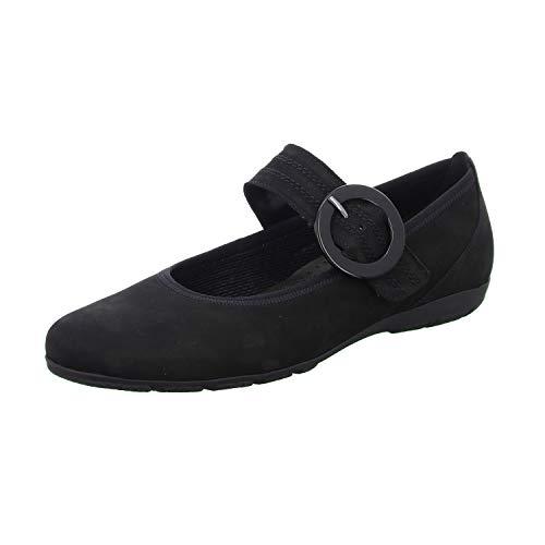 Gabor Shoes 54.168.17, Ballerines Femme, Noir, 38.5 EU