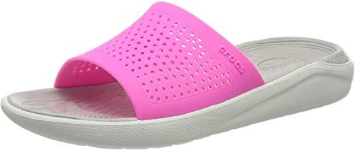 Crocs Unisex-Erwachsene Literide Slide Sandalen, Electric Pink/Almost White 6qv), 42/43 EU