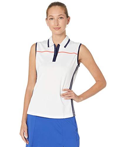 Callaway Ärmelloses Golf-Poloshirt für Damen mit Farbblock, Damen, Polo, Color Block Sleeveless Golf Polo Shirt, Brilliant WHI/Peacoat, Medium