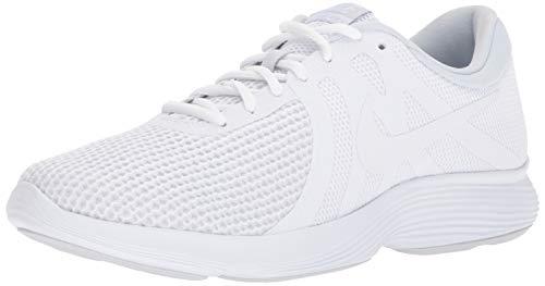 Nike Men's Revolution 4 Running Shoe, White/White - Pure Platinum, 6 4E US