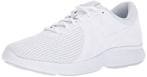 Nike Men's Revolution 4 Running Shoe, White/White-Pure Platinum, 8 4E US
