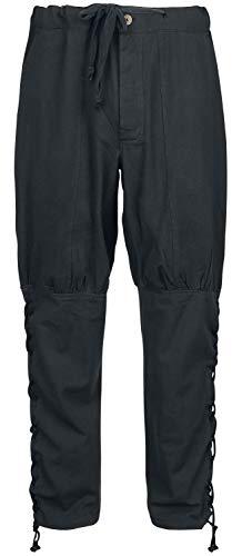 Leonardo Carbone Hose mit Beinschnürung Männer Hose schwarz M, 100% Baumwolle, Kostüme, Mittelalter
