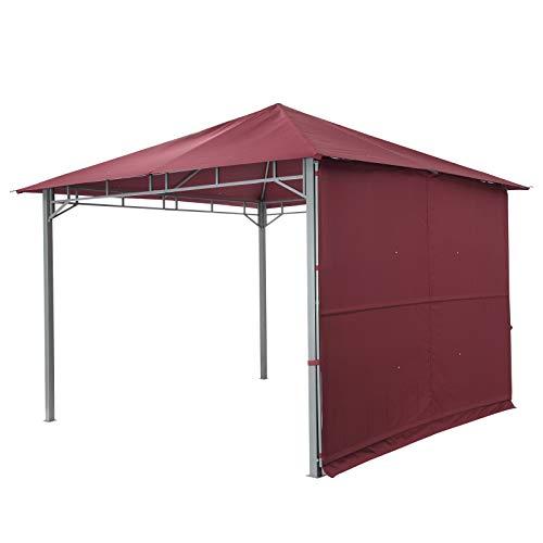 tepro Pavillon Burgund LEHUA 330x330x285 cm Garten Camping Terrasse 5507
