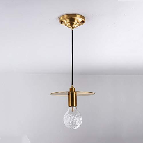 Siet Lámpara de Techo de iluminación Colgante nórdica, luz de Cristal Transparente, luz Colgante, Luces de suspensión de Cobre geométrico para Comedor, Dormitorio, Parada de Dormitorio, zócalo G9