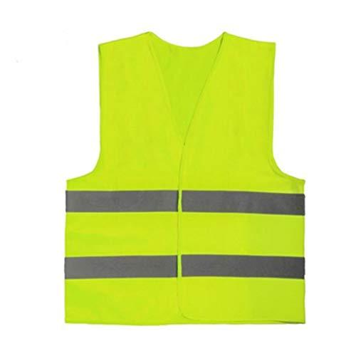 JTWJ Grüne reflektierende Streifen Weste Reiten super helles Nachtlicht Neue Vorschriften erhöhen reflektierende Weste Schutzkleidung