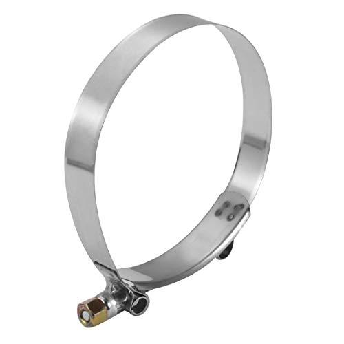 Clip de abrazadera de manguera de perno en T de acero inoxidable de 112 mm a 120 mm para tubería de filtro de bomba de combustible