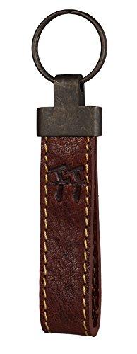 FFelsenfest Vintage Schlüsselanhänger | ECHT LEDER -pflanzlich gegerbt | 12 cm Lang (cognac)