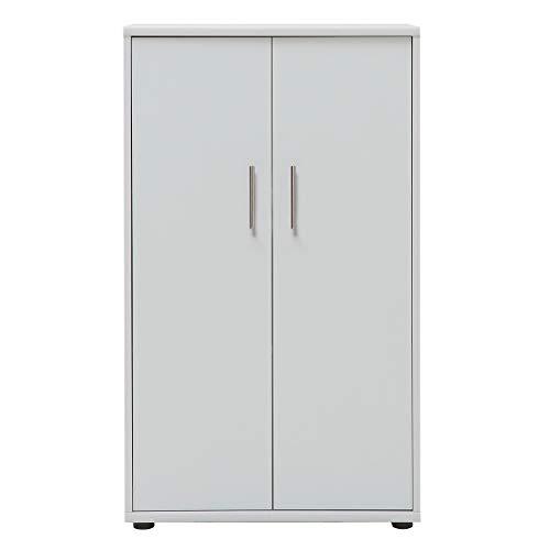 Möbelpartner Aktenschrank SERIE 1200 | HxBxT 1110 x 650 x 340 mm| lichtgrau | Aktenregal Schrank Regal Büroschrank Schiebetürenschrank