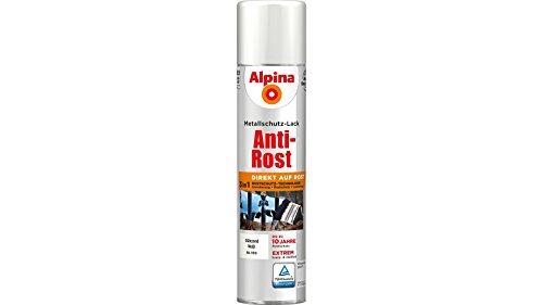 ALPINA Metallschutzlack Anti-Rost Spray, 3in1, weiß glänzend 400 ml
