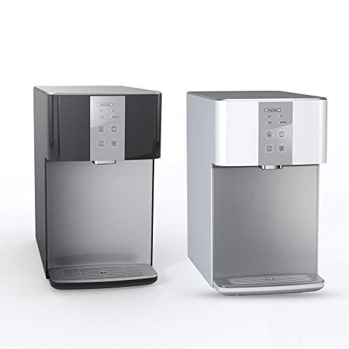 SPRUDELUX Auftisch-Tafelwasseranlage Blue Diamond 3.0 UV + Filtereinheit Weiß Ohne CO2 Flasche. Profi-Wassersprudler für den Privathaushalt. Mineralwasser Sprudelwasser (Schwarz)