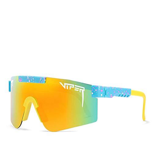 QETRYT Pit Viper Sport Gafas De Sol Polarizadas Protección Uv Gafas Para Ciclismo Hombres Mujeres Deportes Al Aire Libre Pesca Golf Gafas De Béisbol Gafas A Prueba De Viento C16