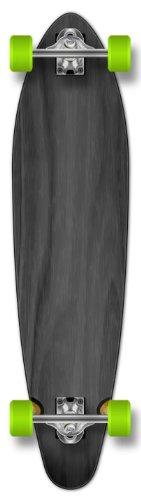 Yocaher New Complete Longboard KICKTAIL 70#039s Shape Skateboard w/ 71mm Wheels Black