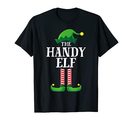 Pijama de fiesta de Navidad de grupo familiar a juego de elfos móviles Camiseta