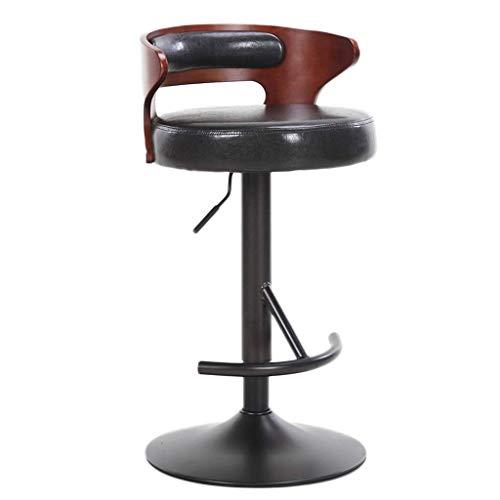 WYBW Taburetes de bar cafetería, taburete de bar, silla elevadora, silla de bar giratoria, taburete alto, taburete de desayuno, taburete de mostrador multicolor,B