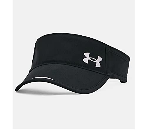 Under Armour Women's Launch Run Visor , Black (001)/Reflective , One Size Fits Most