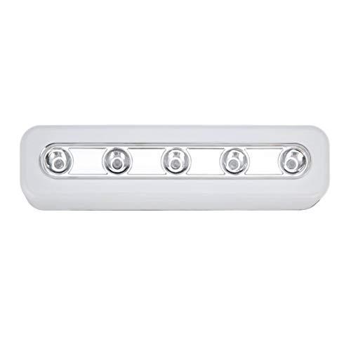 Shenykan Luz de Pared inalámbrica de súper Brillo 5 LED Armario de Armario Luz de Grifo autoadhesiva Lámpara de luz táctil de Emergencia de Noche para el hogar - Blanco