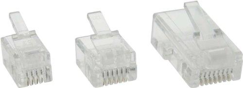 30 Stück InLine® Modularstecker 6P4C RJ11 zum Crimpen auf Rundkabel