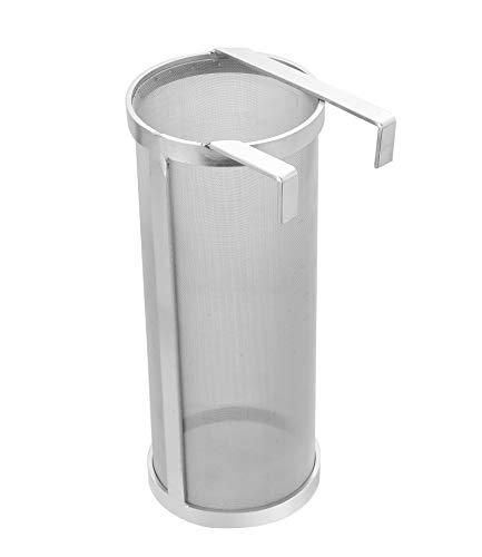 NATGAI Hopper - Filtro de malla de acero inoxidable de 300 micras, filtro de salto, para cerveza casera, tetera de té (10 x 25 cm)