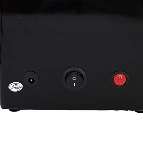FECAMOS Caja enrolladora de Reloj Negra de 5 Engranajes Caja enrolladora automática de Reloj Motor silencioso para Fabricantes de Relojes Vidrio acrílico para Tienda de Relojes(Transl)
