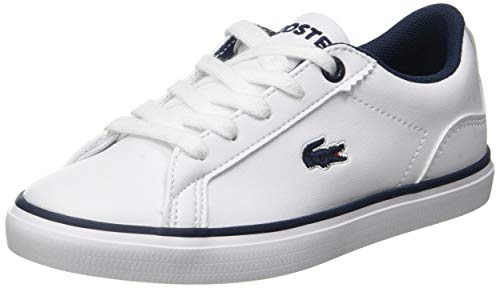 Lacoste Lerond BL 2 Cuc Sneaker, Weiß (White/Navy), 32 EU