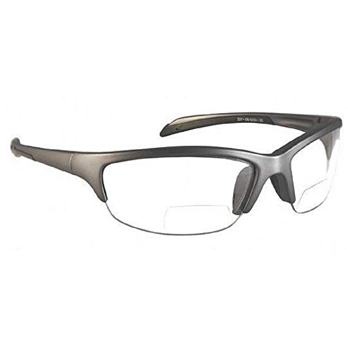 SB-5000 Gafas de seguridad bifocales en +1.0 - +3.0 Ampliación (3.0, transparente)
