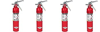 Amerex B417 2.5lb ABC Dry Chemical Class A B C Fire Extinguisher with Wall Bracket  4-PACK