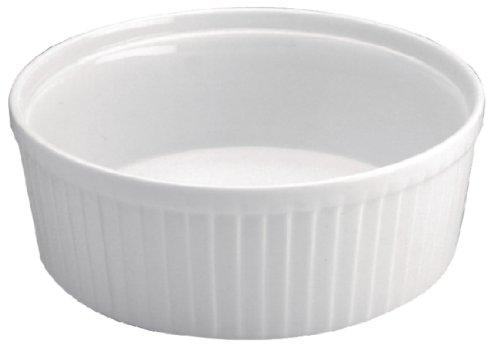 Olympia w446 Whiteware Souffle Plat, Blanc (Lot de 6)