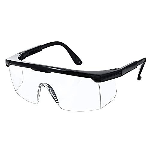 Gafas de Seguridad, Gafa de Protección, Gafas a Prueba de Polvo, Gafas Protectoras, Plegable Gafas Protectoras, para Uso Industrial, Agrícola o de Laboratorio (1 Par)