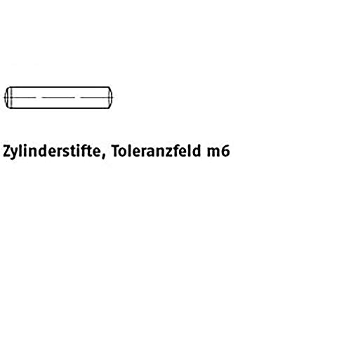 Zylinderstifte DIN 6325 Stahl 1 m6 x 12 VE=S 100 Stück