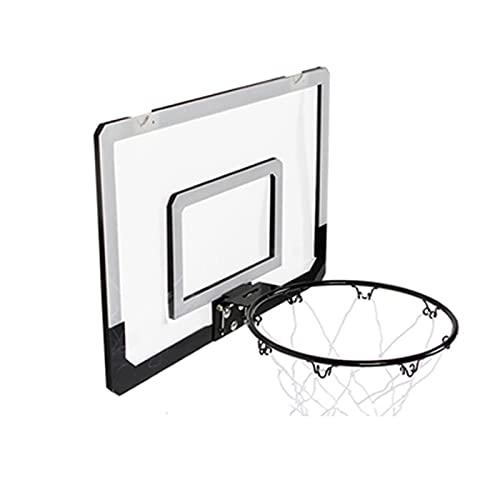 Canestro Basket Da Camera Da Muro,Cestino Di Metallo,Tabellone Hoop Per Canestro Adulto Mini,Rete Da Basket Sport Giocattoli,Contiene Accessori Come Pompe,Ganci,Pallacanestro,Ecc,Nero