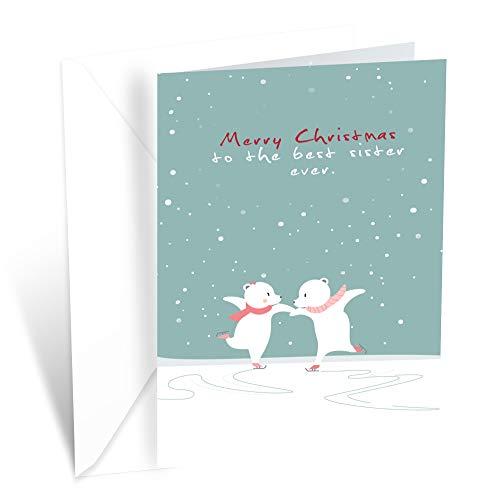 Prime Greetings Christmas Card Sister