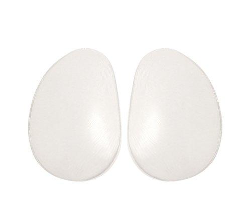Sodacoda Große Silikon Po Einlagen - Ersatz oder Extra Effekt für unsere Push Up Unterhosen - 400g/Paar (Transparent)