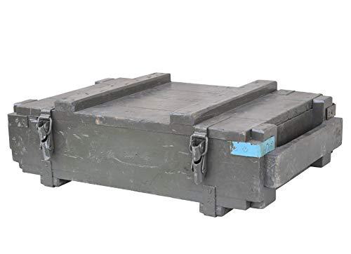 Moooble Rustikale Munitionskiste Typ POMZ aus Holz, 65x39x19cm - Militär Truhe Offizierskoffer Aufbewahrungskiste Munitionsbox Militaria