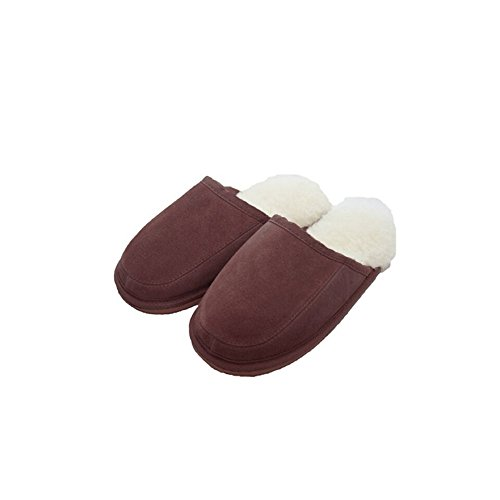 Eastern Counties Leather Unisex Pantoffeln James, Wollmischung (44 EU) (Schokolade)