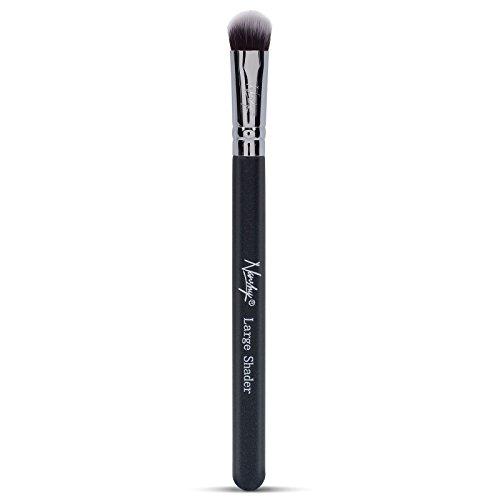 Nanshy Lidschatten-Make-up-Pinsel, großer Lidschatten-Pinsel, schwarz, vegane Borsten, MUA-genehmigt