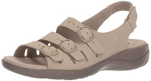 Clarks Women's Saylie Quartz Sandal, Sand Nubuck, 5