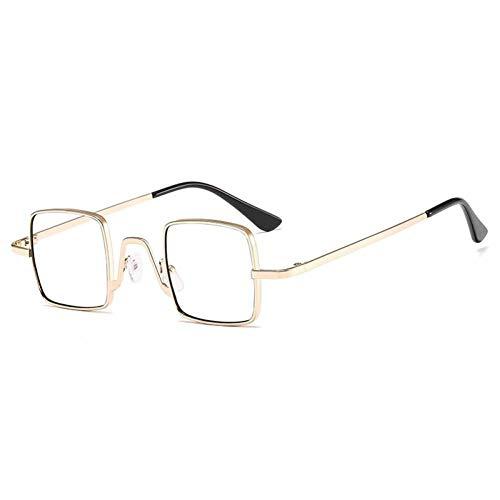 ZZOW Gafas De Sol Cuadradas Pequeñas Vintage para Mujer, Diseñador De Marca, Colores Dulces, Lentes Transparentes con Espejo, Gafas De Moda para Hombres, Gafas De Sol Uv400