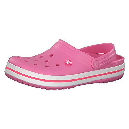 Crocs Unisex Men's and Women's Crocband Clog, Pink Lemonade/White, 6 US