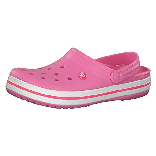 Crocs Crocband Unisex Adulta Zuecos, Rosa (Pink Lemonade/White 62p), 39/40 EU