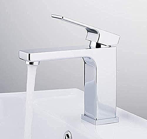 Grifo del grifo del lavabo del grifo del grifo del lavabo del baño mezclador del grifo montado en la cubierta del cromo Cascada Grifo del lavabo de latón Grifos de agua